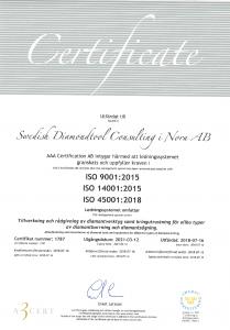 Certifierade enligt ISO-standard